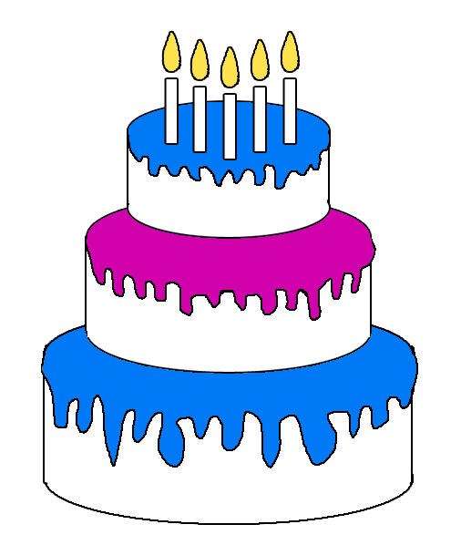 506x598 Happy Birthday Cake Clipart The Cliparts