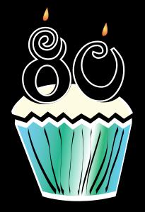 205x299 80th Birthday Clip Art