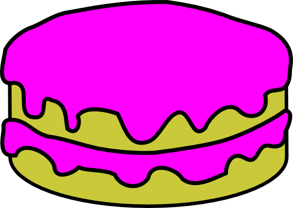 600x427 Pink Cake No Candles Clip Art