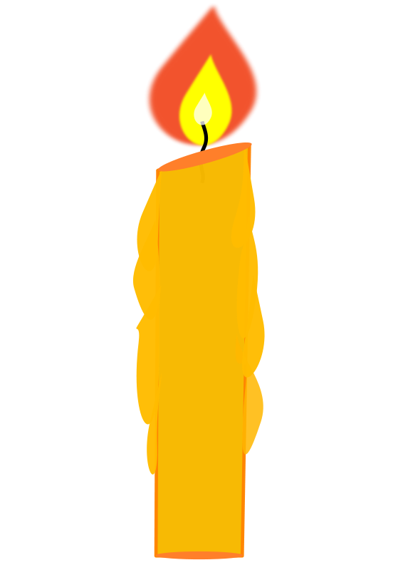 566x800 Birthday Candle Clipart