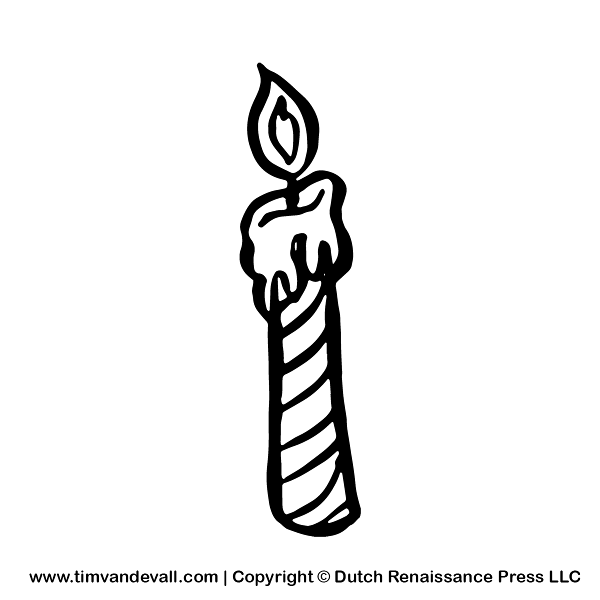 1200x1200 Birthday Black And White Birthday Candle Clipart