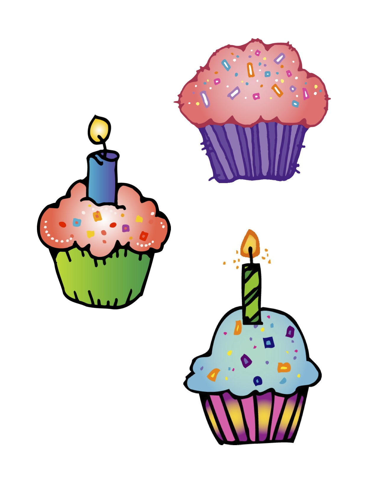 1275x1650 Birthday Clipart Muffin