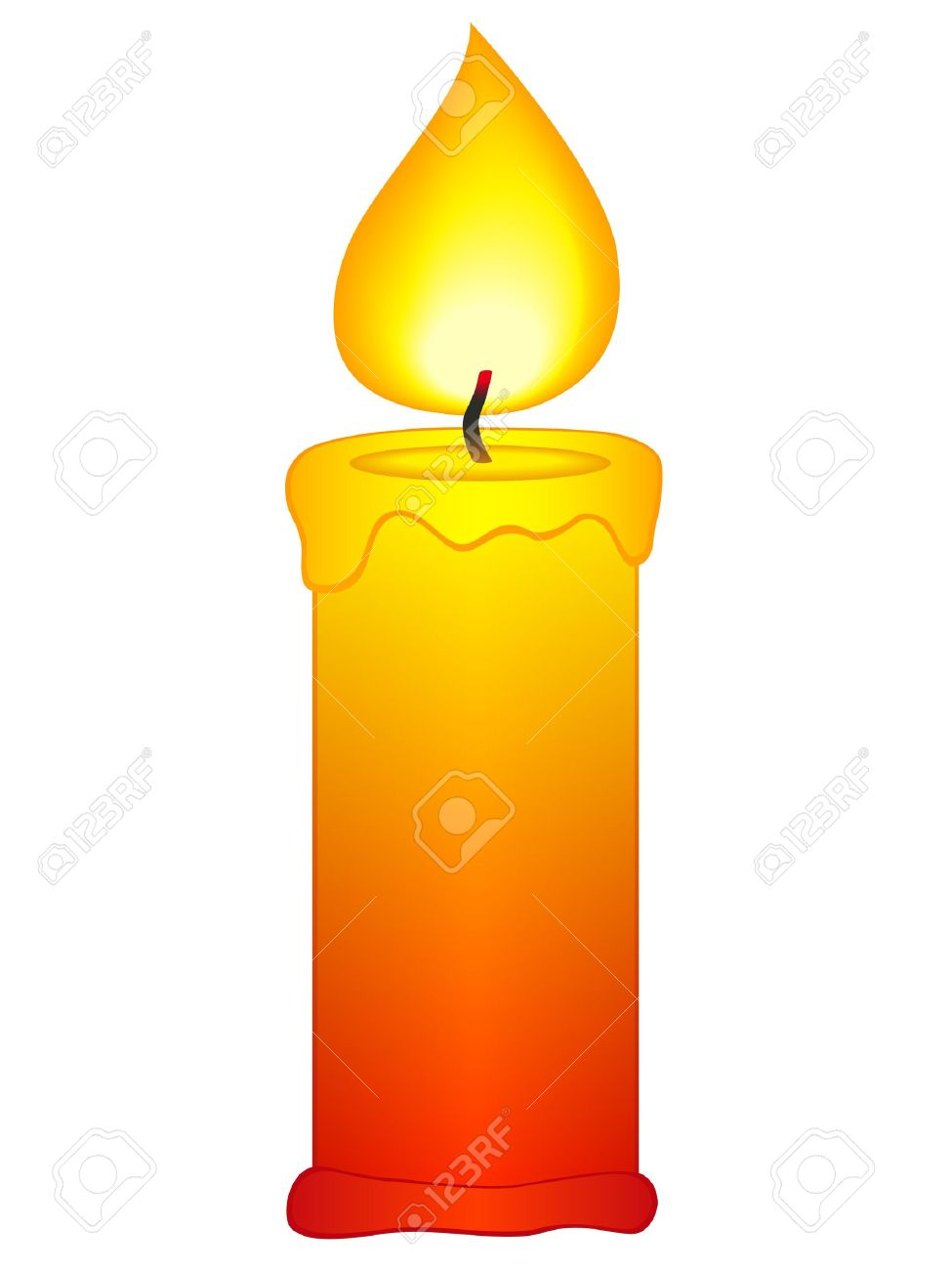 975x1300 Burning Candle Clipart
