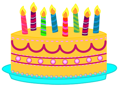 400x298 Candle Clipart Birthday Decoration