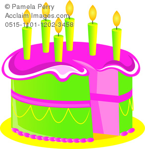 293x300 Art Illustration Of A Cartoon Birthday Cake