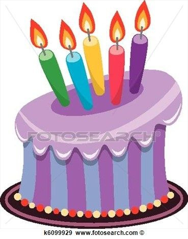 369x470 Purple Birthday Cake Clipart
