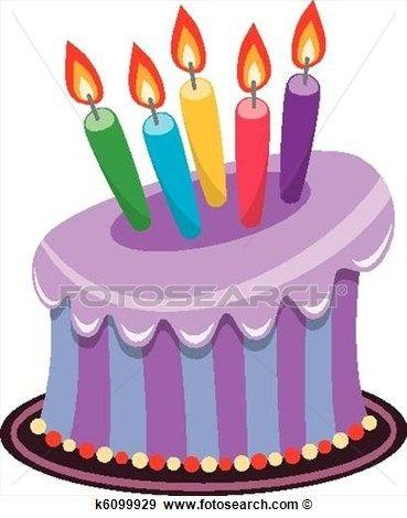 369x470 Purple Birthday Cake Clipart