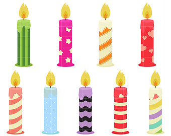 340x270 Birthday Candle Clip Art