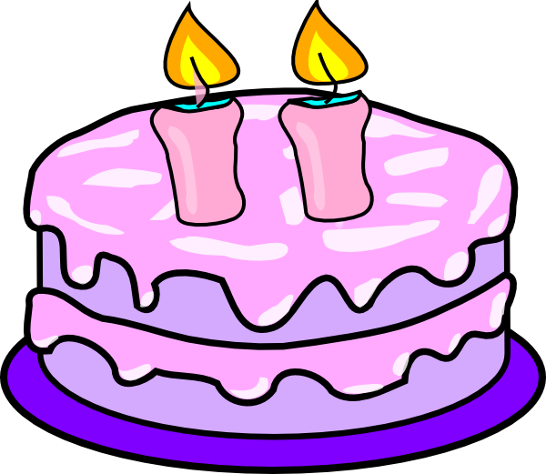 600x521 3 Birthday Cake Candles Clipart