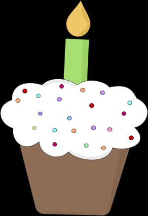 300x439 Fun Birthday Cupcake Clip Art