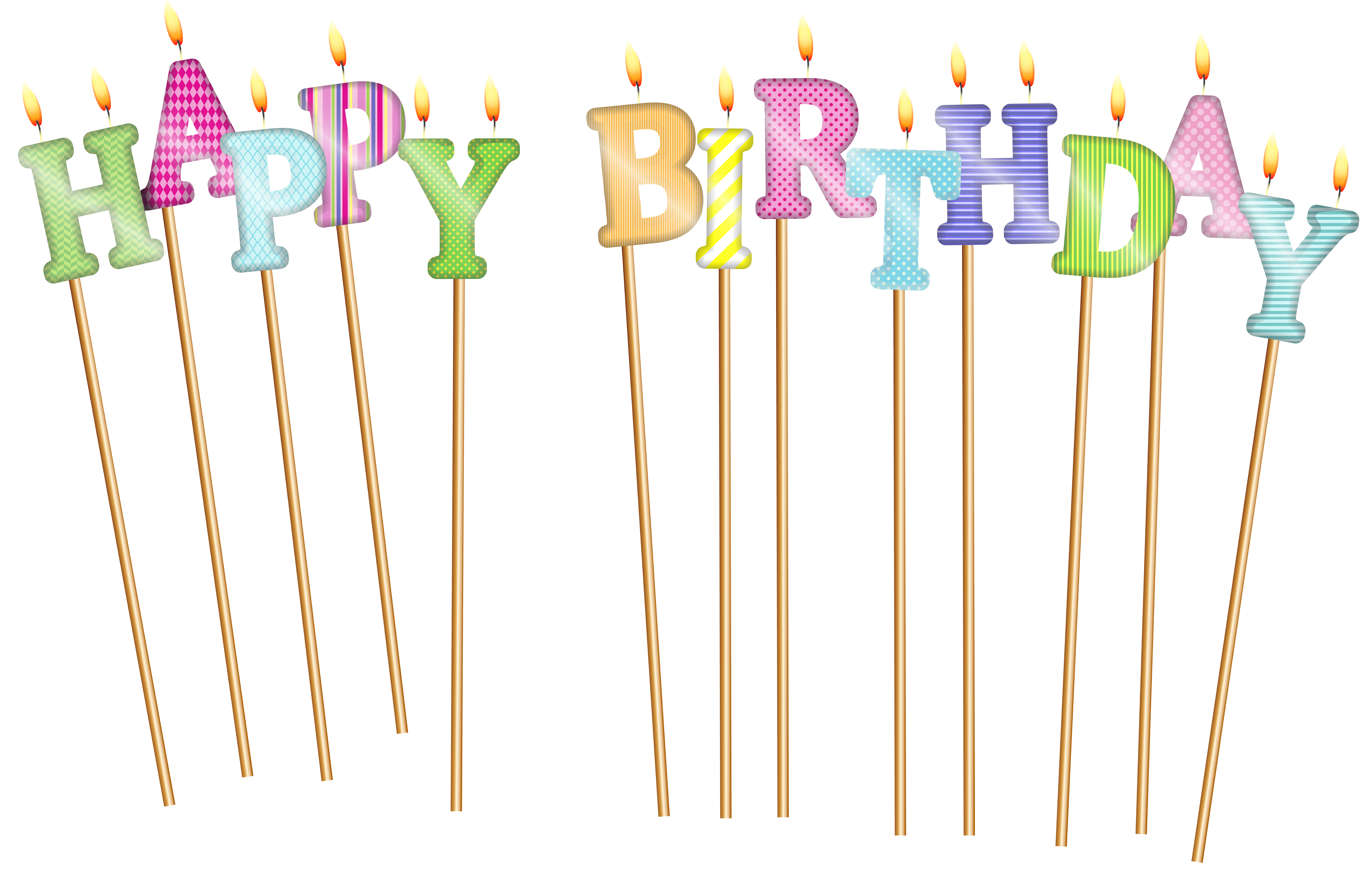 8000x5089 Happy Birthday Deco Candles Png Clip Artu200b Gallery Yopriceville