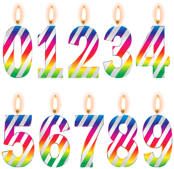 600x584 Numbers Birthday Candles Png Clip Art Imageu200b Gallery