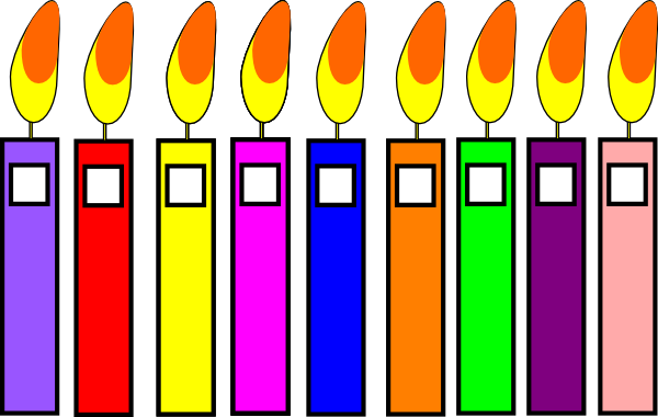 600x380 Birthday Candles Clip Art