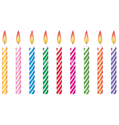 380x400 Birthday Candles Clipart