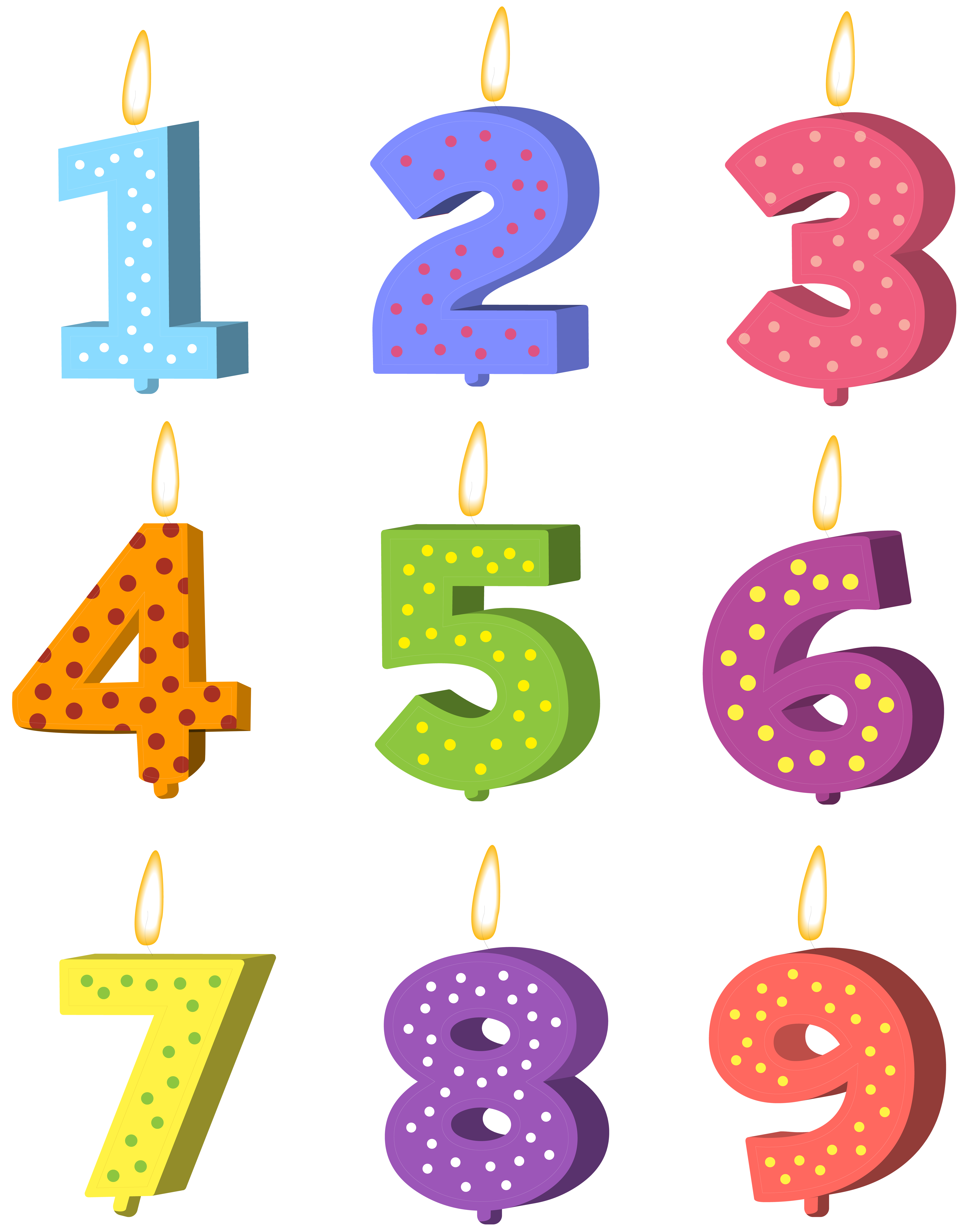 6326x8000 Birthday Candles Set Png Clip Art Imageu200b Gallery Yopriceville