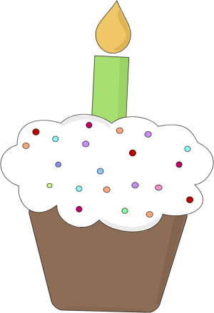 300x439 Birthday Cupcake Clipart