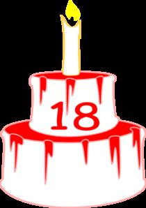 210x298 18bdaycake Clip Art