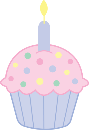 376x550 Cute Pink Birthday Cupcake