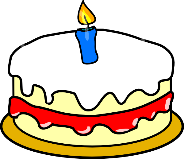 600x518 First Birthday Cake Clip Art