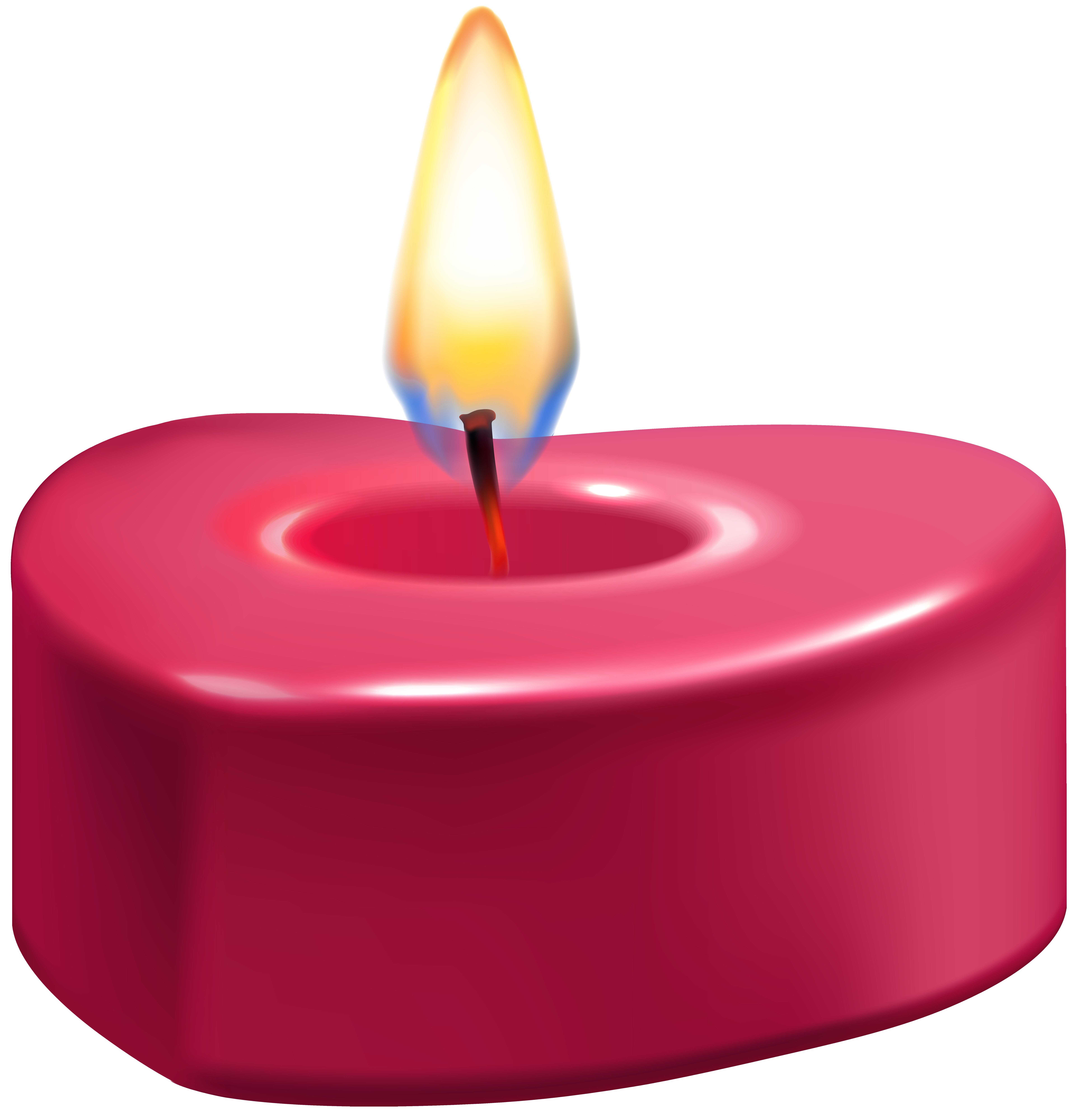 7710x8000 Heart Candle Png Clip Art