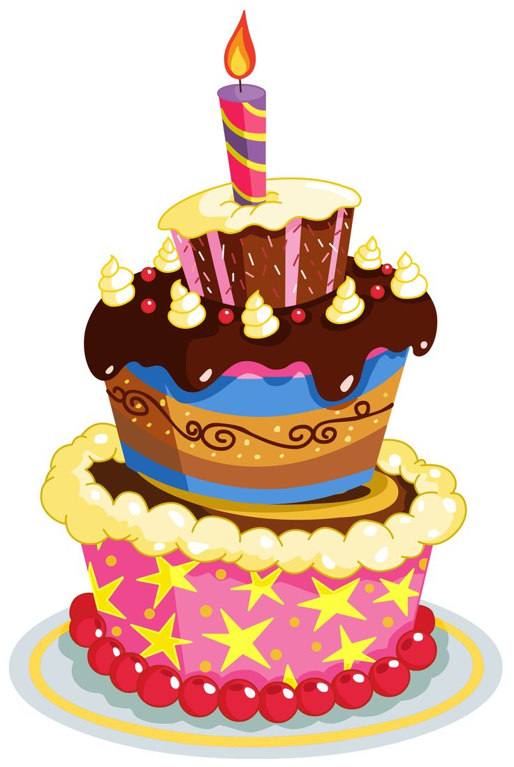 736x1098 Image Of Birthday Cake Clipart