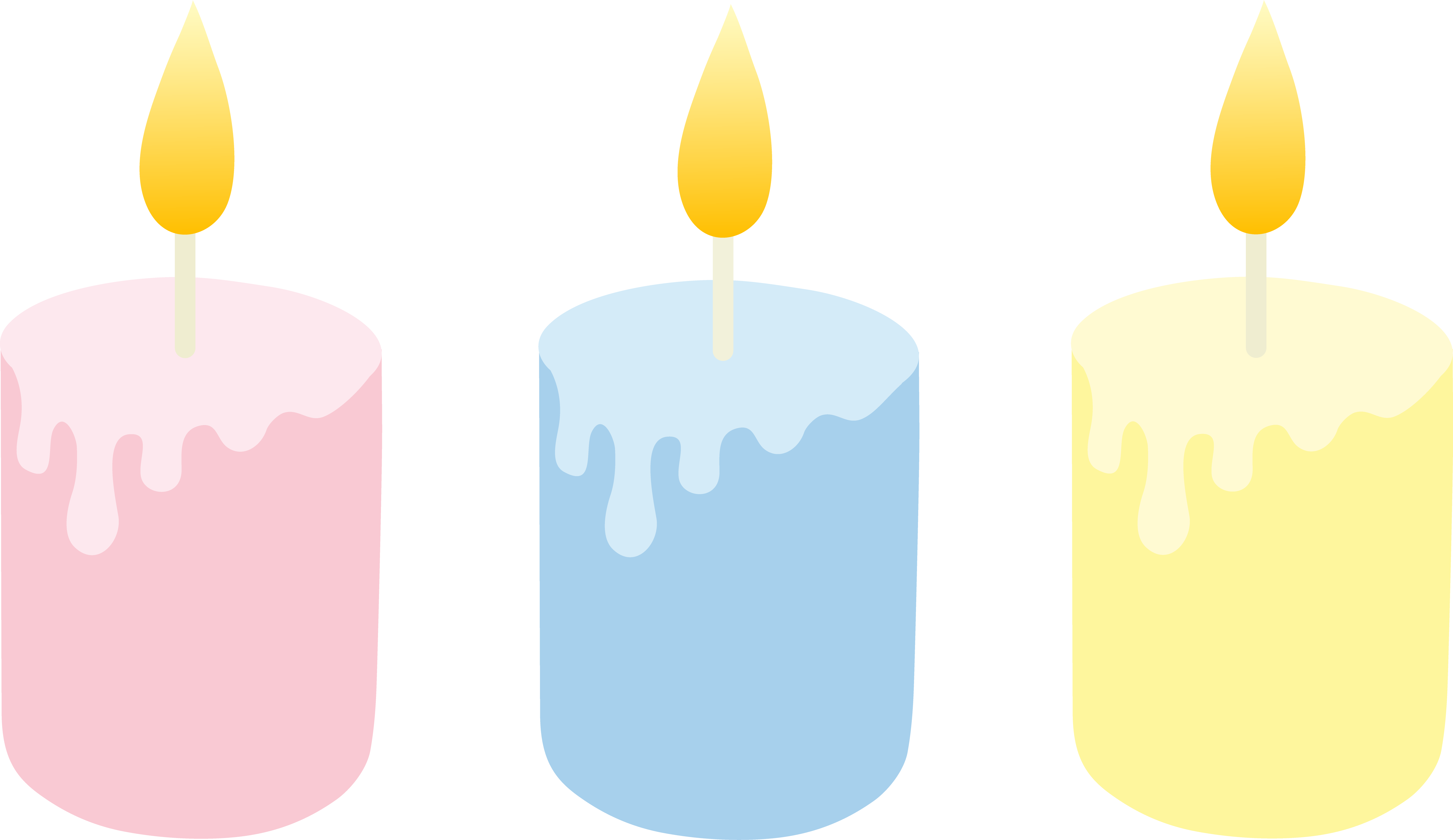 5885x3405 Three Pastel Colored Candles