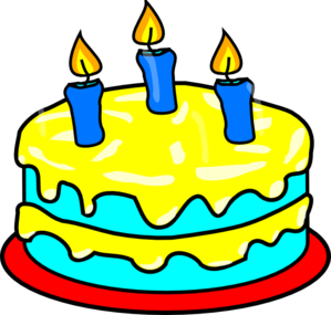 299x285 Yellow Three Candle Cake Clip Art