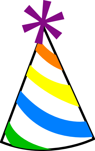 378x599 Party Hat Clipart Transparent Background