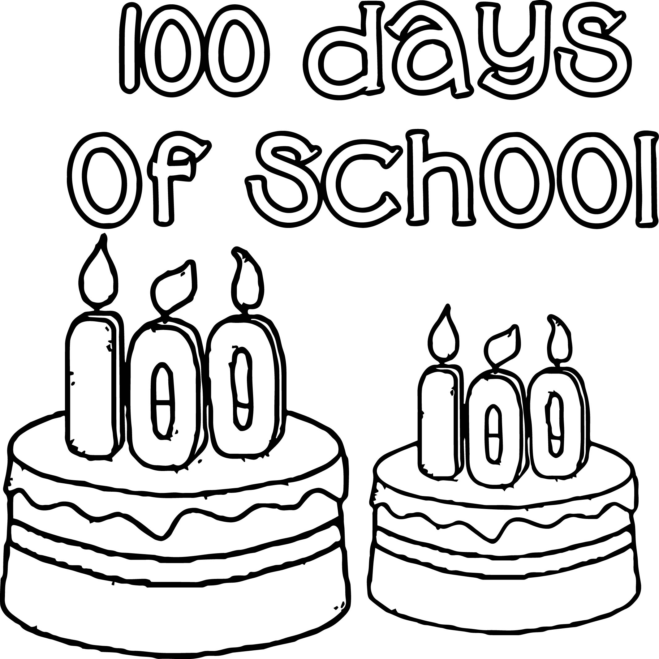 2130x2131 100 Days Of School Birthday Coloring Page Wecoloringpage