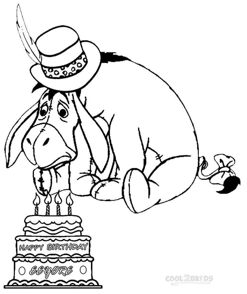 850x1009 Eeyore Birthday Coloring Pages Cool2bkids