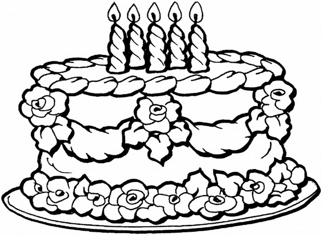1048x764 Great Happy Birthday Coloring Page 24 For Your Pages