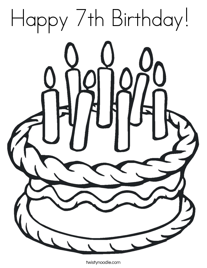 685x886 Happy 7th Birthday Coloring Page