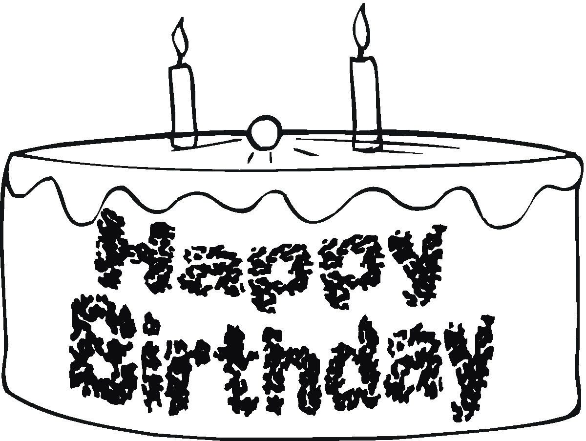 1200x903 Happy Birthday Cake Coloring Page Pages Of