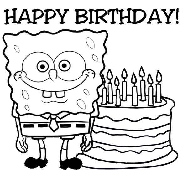600x556 Happy Birthday Coloring Pages For Grandma