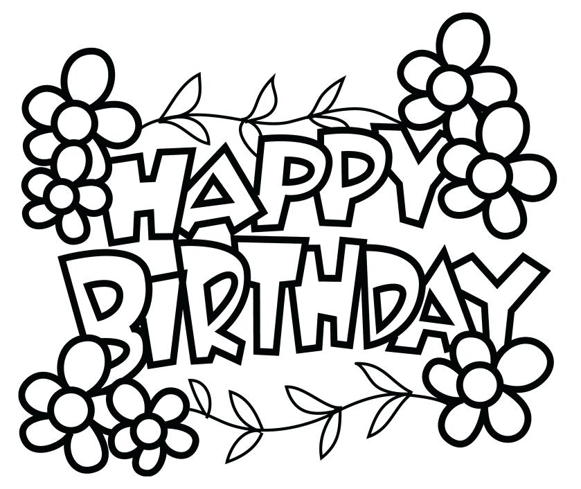839x706 Coloring Pages Happy Birthday