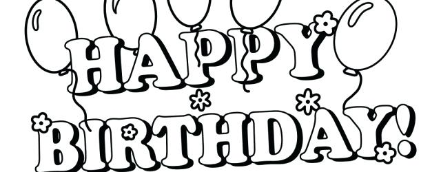 640x250 Happy Birthday Coloring Pages