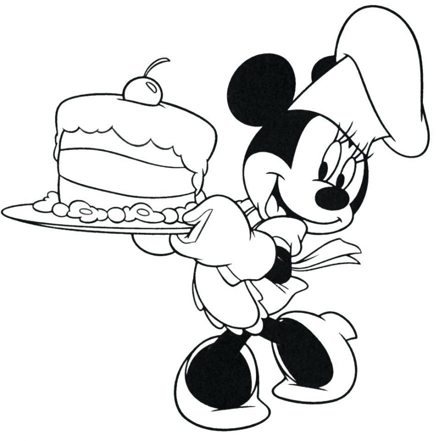 878x883 Best Birthday Coloring Pages Ideas On New Mickey Mouse Happy 39