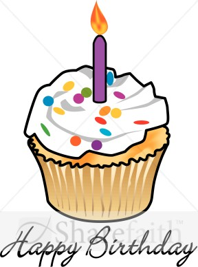 288x388 Birthday Candle Clip Art Happy Birthday Cupcake With Candle