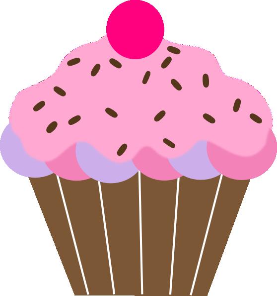 558x595 Cute Birthday Cupcake Clip Art