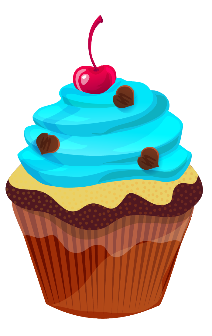698x1107 Holiday Cupcake Clipart