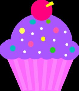 261x298 Purple Clipart Birthday Cupcake