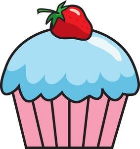 283x300 Strawberry Clipart Birthday Cupcake