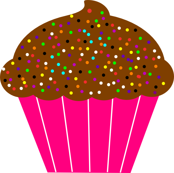 600x594 Printable Cupcake Clipart