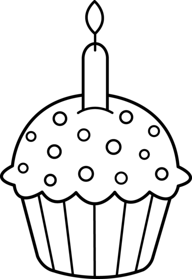 378x550 Best Cupcake Clipart Black And White