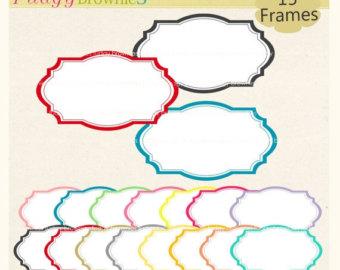 340x270 Frame Clipart Frames Clip Art Border Label Digital Frames
