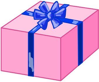 340x282 Gift Clipart Wrapped Present