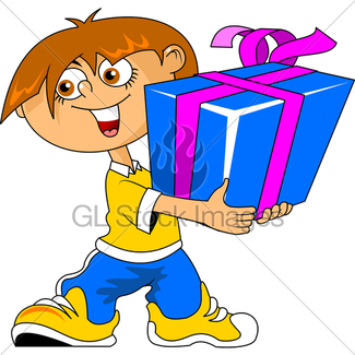 325x325 Cartoon Birthday Gift Pack Gl Stock Images