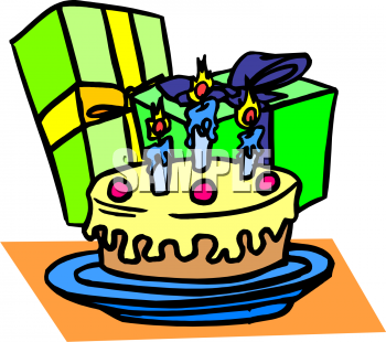 350x310 Gift Clipart Birthday Cake