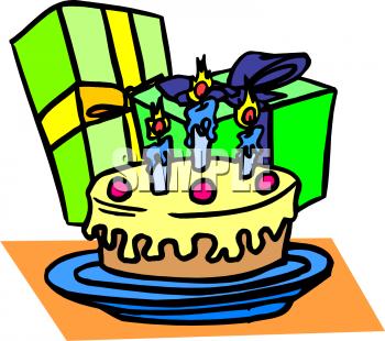350x310 Gift Clipart Birthday Cake