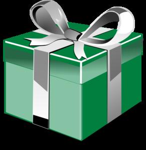 291x299 Green Blue Gift Clip Art